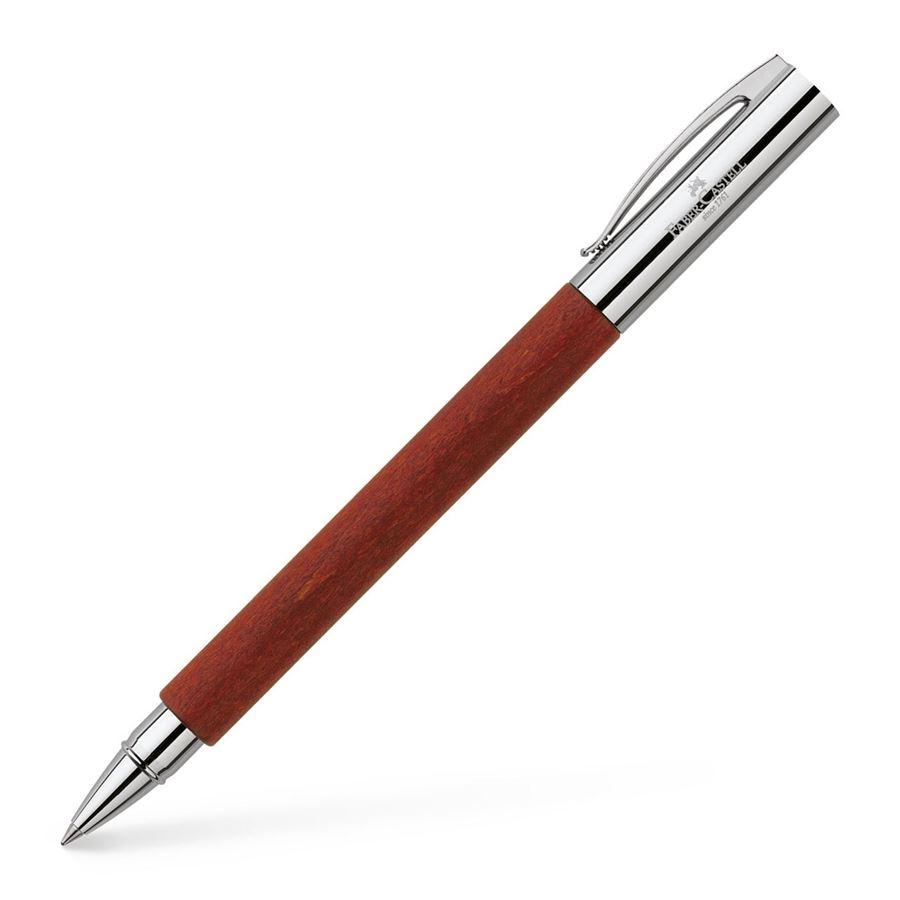 Faber-Castell - Ambition pear wood rollerball, reddish brown