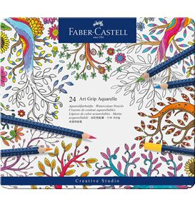Faber-Castell - Watercolour pencil Art Grip Aquarelle tin of 24