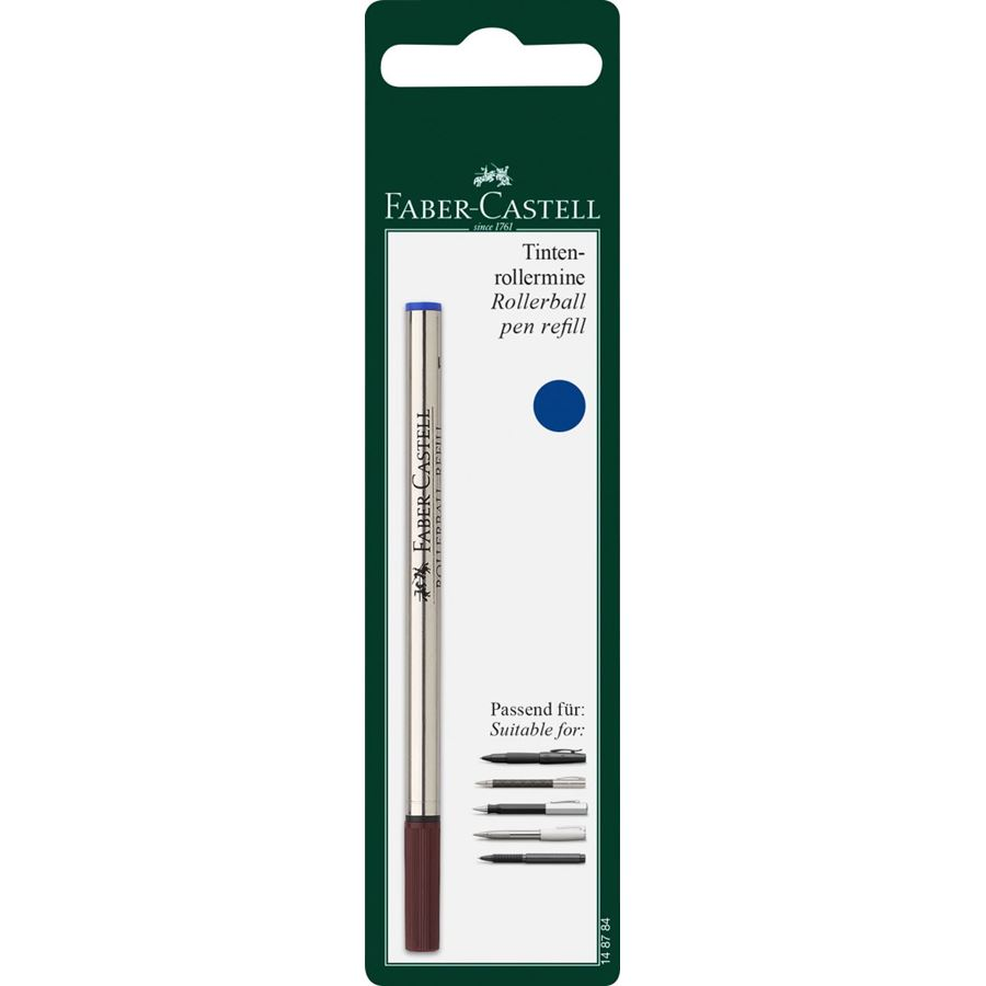 Faber-Castell - Spare refill for Fine Writing rollerball, M, blue