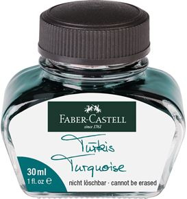 Faber-Castell - Ink bottle, 30 ml, ink turquoise