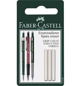 Faber-Castell - Grip 1345/47 spare erasers for mechanical pencil, set of 3
