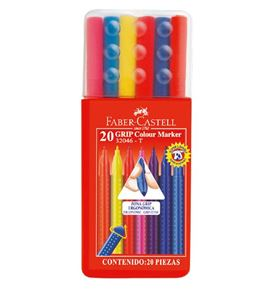 Faber-Castell - Grip Colour Marker 32046 set 20x