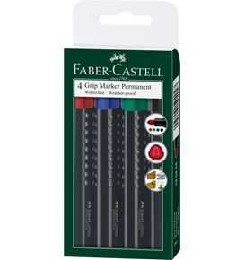 Faber-Castell - Permanentmarker Grip 1504 round tip set of 4