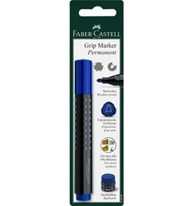Faber-Castell - Permanent Marker Grip 1504 round BC blue