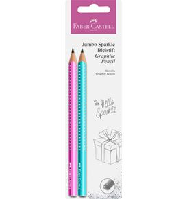 Faber-Castell - Jumbo Sparkle graphite pencil set, autumn, 2 pieces