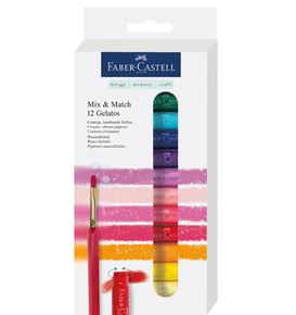 Faber-Castell - Watersoluble crayons Gelatos set 12 pcs. + 1 brush