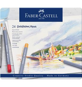 Faber-Castell - Goldfaber Aqua watercolour pencil, tin of 24