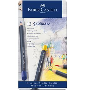 Faber-Castell - Colour Pencil Goldfaber metal tin of 12