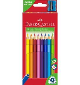 Faber-Castell - 10 Coloured pencil Jumbo triangular with sharpener