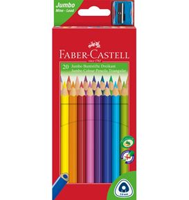 Faber-Castell - Jumbo Triangular Junior colour pencils, wallet of 20