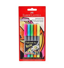Faber-Castell - 5 Multimark Plus neon colors
