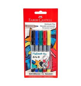 Faber-Castell - 5 Multimark Plus, assorted colors