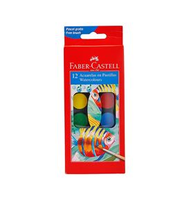 Faber-Castell - Watercolours Paint box of 12