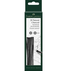 Faber-Castell - Charcoal natural Pitt 3-6mm