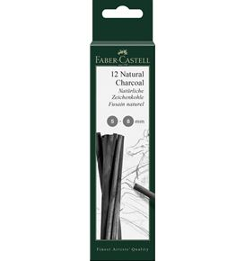 Faber-Castell - Pitt natural charcoal stick, 5-8 mm