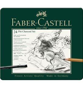 Faber-Castell - Pitt Charcoal set, tin of 24