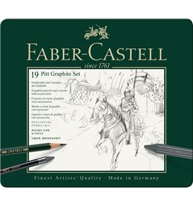 Faber-Castell - Pitt Graphite set, tin of 19