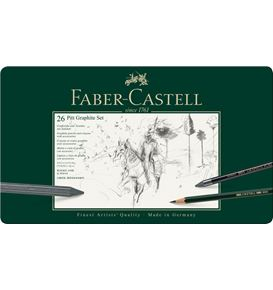 Faber-Castell - Pitt Graphite set, tin of 26
