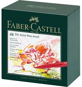 Faber-Castell - India ink Pitt Artist Pen B studio box of 48