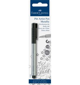 Faber-Castell - India ink pen Pitt Artist Pen colour silver
