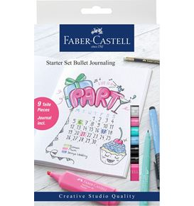 Faber-Castell - Bullet journaling starter set, 9 pieces