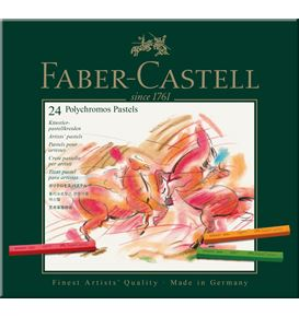 Faber-Castell - Polychromos pastel, cardboard wallet of 24