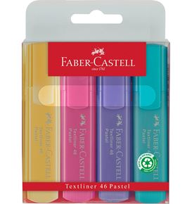 Faber-Castell - Highlighter Textliner 46 superfluorescent + Pastel wall.of 4