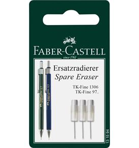Faber-Castell - TK-Fine spare erasers for mechanical pencil, set of 3