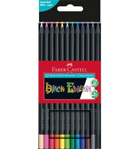Faber-Castell - Black Edition colour pencils, cardboard box of 12
