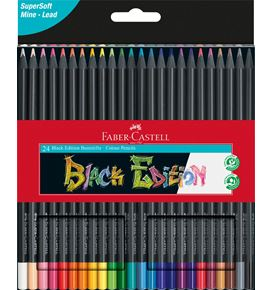Faber-Castell - Black Edition colour pencils, cardboard box of 24