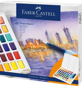 Faber-Castell - Watercolours in pans, 48ct set