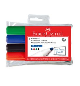 Faber-Castell - Winner 152 whiteboard marker, wallet of 4