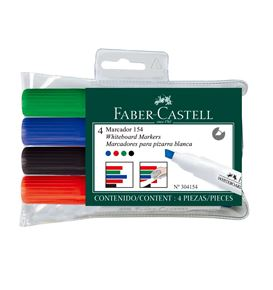 Faber-Castell - Winner 154 whiteboard marker, wallet of 4