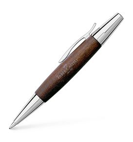 Faber-Castell - e-motion wood twist ballpoint pen, B, dark brown